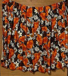 """Vintage Barkcloth Curtains / Drapes 2 Panels Butterflies 44"""" W X 43"""" L"""