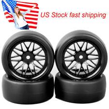 4Pcs PP Drift Tires & Wheel Rims 6mm offset For 1/10 HSP HPI on Road Racing Car