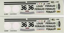 FERRARI 365 GTB4 DAYTONA N°36 ECURIE FRANCORCHAMPS LE MANS 1972 DECALS 1/43