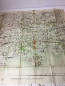 1907 OS Antique Map Portsmouth Salisbury Bournemouth 4 mile to the inch