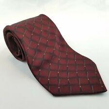 Bill Blass Black Label Tie Burgundy Men's Necktie 100% Silk