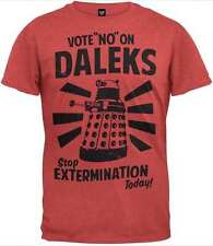 T-Shirt, DR WHO XL Red BBC VOTE NO ON DALEKS End Extermination Today Election @@