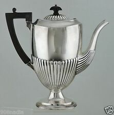 ANTIQUE SILVER PLATE FOOTED TEA/COFFEE/CHOCOLATE POT ART DECO HARD SOLDERED