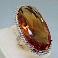 Turkish Handmade Jewelry 925 Sterling Silver Alexandrite Stone Women Ring Sz 9