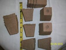 "2 1/4"" Jiffy Peat Pots square Total 25 ct"