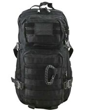 BRITISH ARMY STYLE ASSAULT PACK BACKPACK BAG in BLACK 28 LITRE
