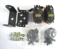 2 Dp de paneo e inclinación + 2 Mg995 Servos Sensor Kit De Montaje Para Robot Arduino