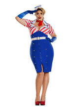 Pin Up Sailor Costume Plus Size Womens 1XL