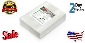 """100 SMALL Pint Vacuum Sealer Bags Size 6"""" x 10"""" for Food Saver Seal a Meal Type"""