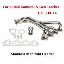 For Suzuki Samurai & Geo Tracker 1.3L 1.6L L4 Stainless Manifold Header w/Gasket