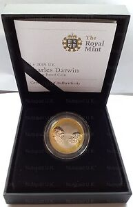 2009 Royal Mint  Charles Darwin  £2 Two Pound Coin Silver proof rare