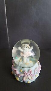Vintage Snow Baby Angel Balerina Mini Snow Globe With Glitter