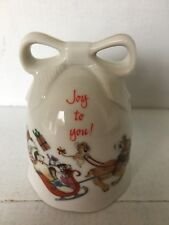 "Bell Designers Collection A Christmas Keepsake, Joy to You! 3 1/4"" no chips"