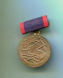 Katastrophen  Medaille   der DDR