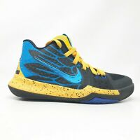 Nike Boys Kyrie Irving 3 GS AH2287-700 Gray Blue Yellow Running Shoes Size 6Y
