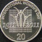 2011 20 Cent Twenty Cent International Women's Day EX Mint Roll UNC