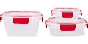 Rubermaid 6-Piece Easy Find Lids Container Set - Clear Red