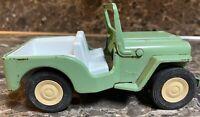 "Tonka Jeep #3 Vintage 1960's 6"" Turquoise Green Metal Fold Down Windshield Used"