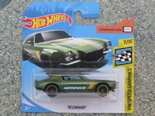 Hot Wheels 2018 #028/365 1970 CAMARO green HW speed graphics