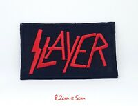 Slayer Large Red & Black Embroidered Iron Sew on Patch #867