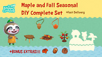 COMPLETE Maple and Acorn and Fall DIY Set: Animal Crossings New Horizons