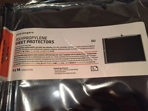 "Pina Zangaro Polypropylene Sheet Protectors — 11"" x 14"" Landscape (10 Pack)"