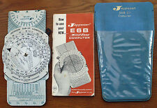 Jeppesen E6B Wind-Easy Computer Slide Rule with Instructions and Case