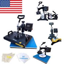 12x15 5in1 Combo Kit Heat Press Machine Swing Away 110pcs Sublimation Paper