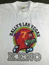 Vintage Mens XL 90s Bally's Las Vegas Keno Gambling Game Screen Stars T-Shirt