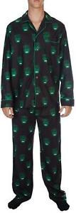 Avengers Hulk Men's Large Pajama Set 2 Piece Flannel PJS Size Large Adult