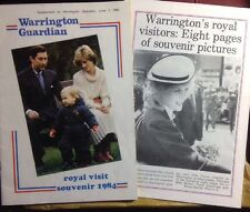 Princess Diana Prince Charles Warrington Royal Visit Souvenir Books 1984 Xrare