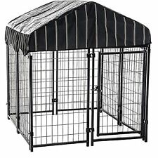 Dog Crates Kennels Chain Link Pet Resort Outdoor XXL Large Dogs Cage with Cover