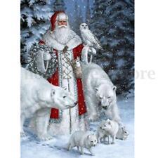 Christmas Santa Claus&Polar Bears Xmas 5D Diamond Painting DIY Craft Home Decor