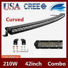 42inch 210W Curved Cree Led Light Bar Driving Single Row Offroad Fog Truck 40/44
