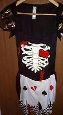 QUEEN OF HEARTS FANCY DRESS ADULTS COSTUME FEMALE LADIES WOMEN'S DRESS 8 10