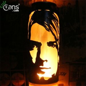 Kurt Cobain Beer Can Lantern! Nirvana Pop Art Portrait Candle Lamp, Unique Gift!