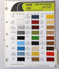 1976 GM  DUPONT CAR COLOR PAINT CHIP BOOK BUICK CHEVY CADDY OLDSMOBILE PONTIAC
