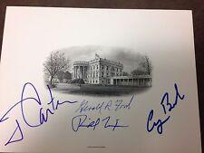 GERALD FORD JIMMY CARTER  SIGNED WHITE HOUSE CARD  RICHARD NIXON GEORGE BUSH