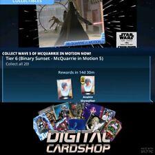 Topps Star Wars Card Trader Tier 6 Binary Sunset Ralph McQuarrie Set Wave 5