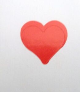 "3/4"" HEART STICKER Stickers Scrapbooking Crafts 50 CT"