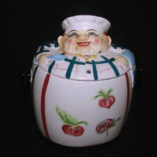"""Vintage Chadwick """"Jolly Chef"""" English Cookie or Biscuit Jar"""