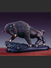 Oxidized LARGE Charging Buffalo 19 x 11 Beautiful Bronze Statue / Sculpture
