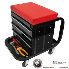Stool Workshop Chair Mobile Tool cabinet Wheelable Metal 3 Drawers mobile