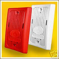 Gentex Mini Horn GX93R, Piezo type, red plate 1gang mtg