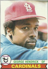 1979 Topps George Hendrick St. Louis Cardinals #175 Baseball Card