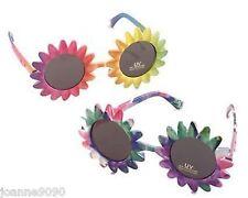 AÑOS 60 70 Hippy Disfraz Hawaiian Arcoiris Flor UV Gafas de sol