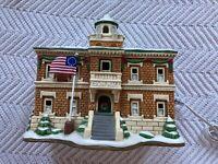 Vintage Lefton Colonial Village Town Hall 10390 Christmas Village EUC