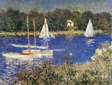 "Claude Monet, ""The Bassin at Argenteuil"",  16.7""h x 22""w, digital print"