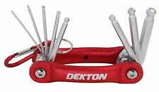 8 Piece Folding Hex Key Includes Sizes 1.5,2,2.5,3,4,5,6 and 8mm