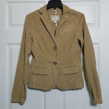American Eagle Women's Corduroy Blazer Jacket ~ Sz SP ~ Long Sleeves ~ Beige